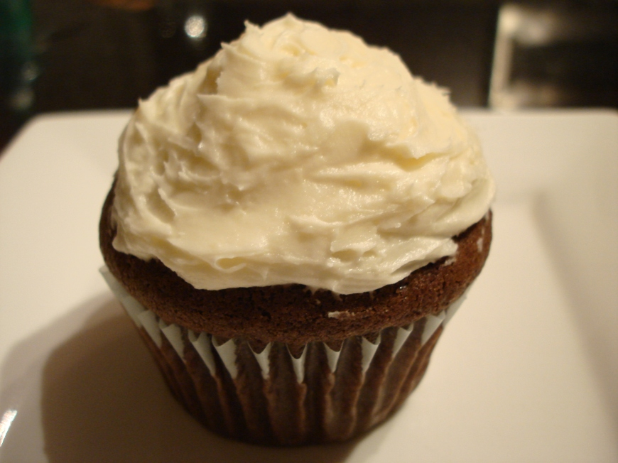Devil's food cupcakes with cream cheese frosting......